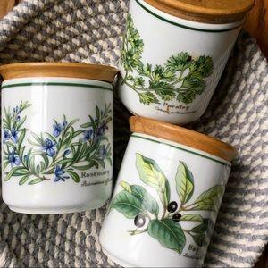 VTG Royal Worcester Porcelain Spice Jars